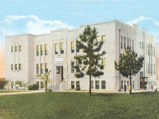 Stuart High School in 1923.