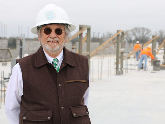 Gary Clardy at the construction site of Rockvale High School, set to open August 2019.
