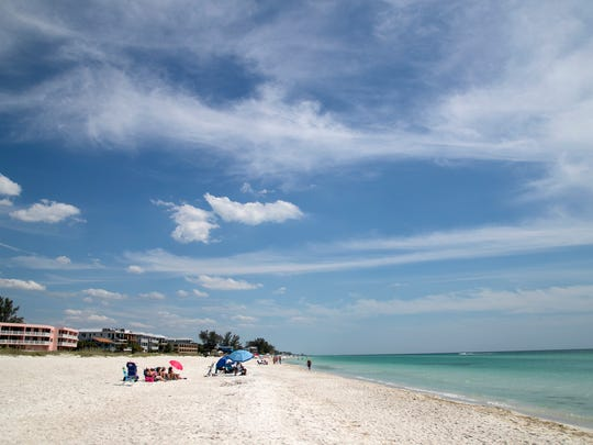 The beach in Bradenton, Florida.