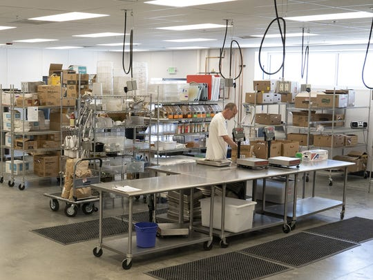 The kitchen at the new Food Bank for Larimer County headquarters.