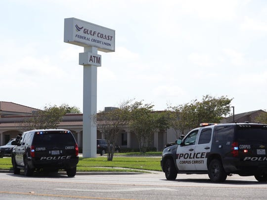 Corpus Christi Police Department bomb squad officers investigated an item left after a bank robbery in the 2600 block of Rodd Field Road on Friday, June 22, 2018.