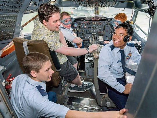 Cadets attending the 2018 Civil Air Patrol National
