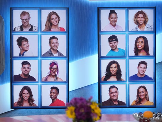 This is the memory wall that displaces the pictures of all the houseguests. As houseguests get evicted their picture will fade to gray. Hey that's Sam Bledsoe, second down in the left hand column!