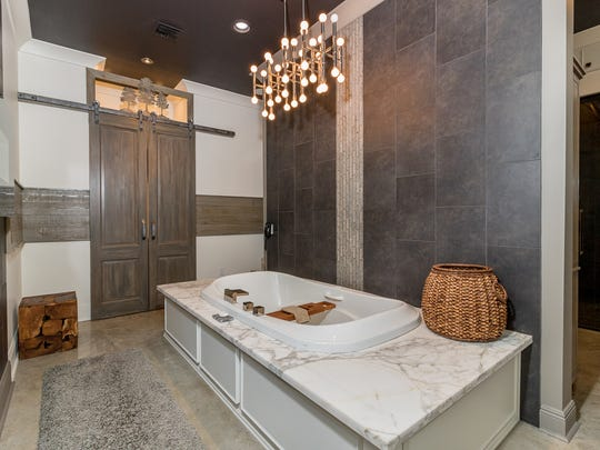 The master bath is a work of art.