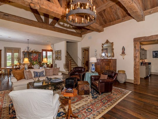 The living areas are full of rustic yet luxurious charm.