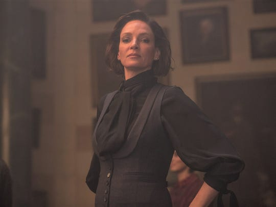"Madame Duret (Uma Thurman) is a headmaster in ""Down"
