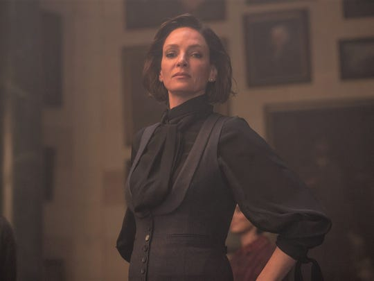 "Madame Duret (Uma Thurman) is a headmaster in ""Down a Dark Hall."""