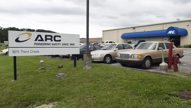 This July 14, 2015, file photo shows the ARC Automotive manufacturing plant in Knoxville, Tenn. Nearly four years ago, the U.S. government's highway safety agency began investigating air bag inflators made by ARC Automotive of Tennessee when two people were hit by flying shrapnel after crashes. A public records posted by the agency show little progress on the probe, which began in July of 2015 and remains unresolved.