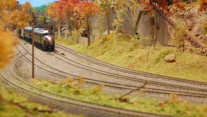 One of the trains on the Rochester Model Railroad Club's track.