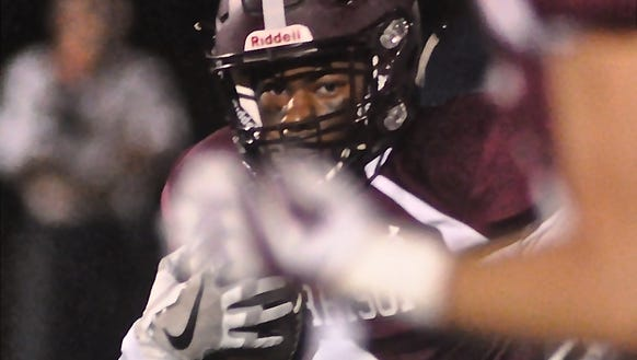 D'Andre Cosby of Harrison on carry. Photo from Oct