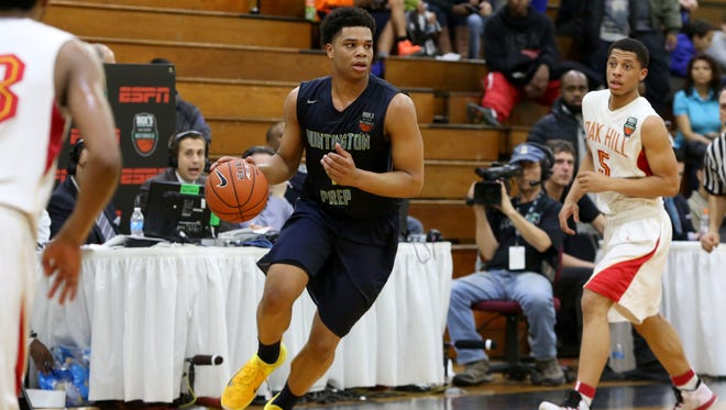 Miles Bridges (center) trimmed his final list of schools to three Monday. Indiana made the cut alongside Michigan State and Kentucky.