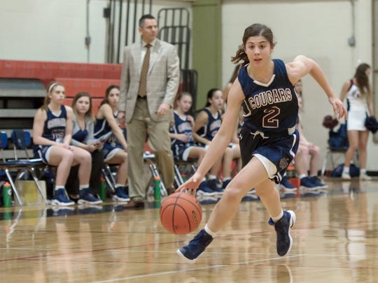 Avery Breaux drives the ball down court as Northside host STM basketball in Lafayette, La., Friday, Jan. 13, 2017.