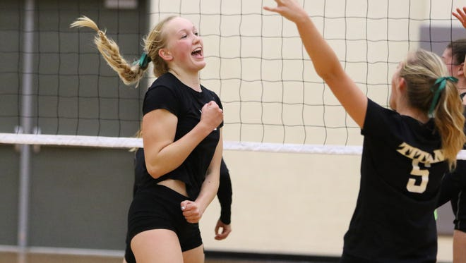 West Salem's Paige Whipple and the Titans defeat McNary in the Greater Valley Conference finale Thursday, Oct. 22, 2015.