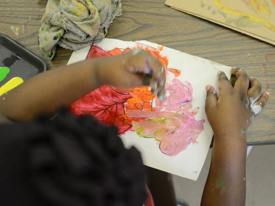 Children can learn to create their own paint during a free workshop by Rockland Center for the Arts.