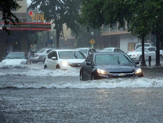 Downtown Flooding-Rain Storms