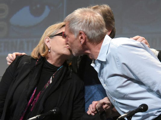 Carrie Fisher, Harrison Ford AP