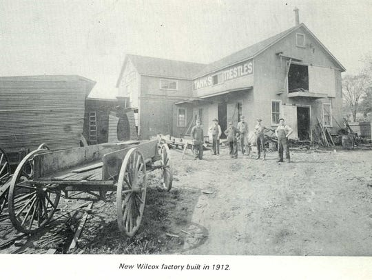 This 1912 photo shows the then-new Wilcox factory,