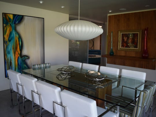 The dining room at Dinah Shore's former Palm Springs estate at 432 W. Hermosa Place, now owned by Leonardo DiCaprio, Feb. 17, 2016.