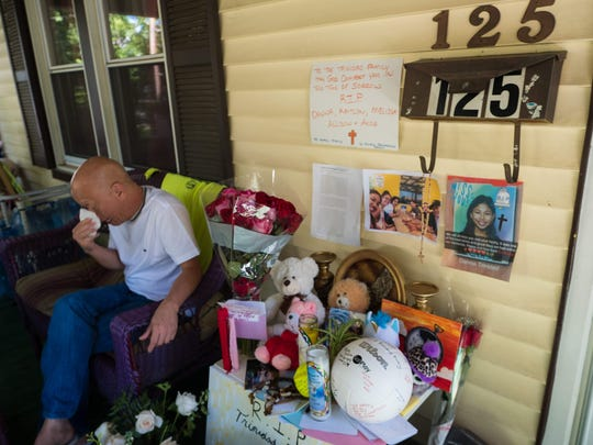 Sitting the front porch of his brother's home in Teaneck, N.J., Daniel Trinidad continues to mourn the loss of his brother Audie and nieces Kaitlyn, 20; Danna, 17; and 13-year-old twins, Melissa and Allison.