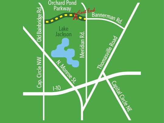 Map of the new Orchard Pond Parkway.