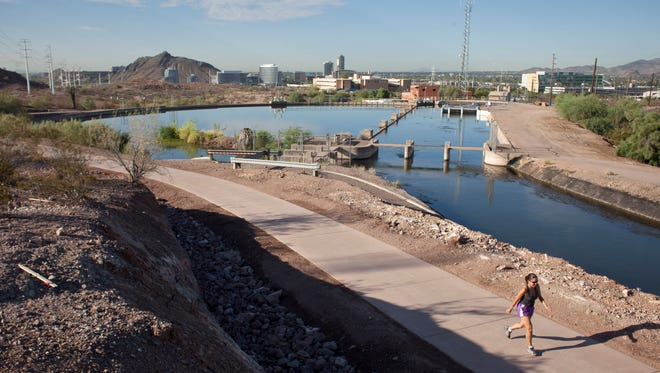 A 1-mile crosscut canal multiuse bike and pedestrian path provides breathtaking views while creating a much-needed link through Papago Park.