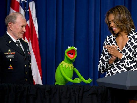 Gen. Martin Dempsey, Kermit the Frog and Michelle Obama