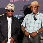 "Big Boi and Andre ""Andre 3000"" Benjamin of Outkast  will headline this year's Coachella. Here, they pose backstage in the press room during the 2006 BET Awards in Los Angeles."