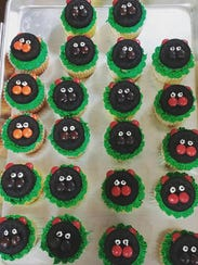 Groundhog cupcakes made by the Pennies for Pastries