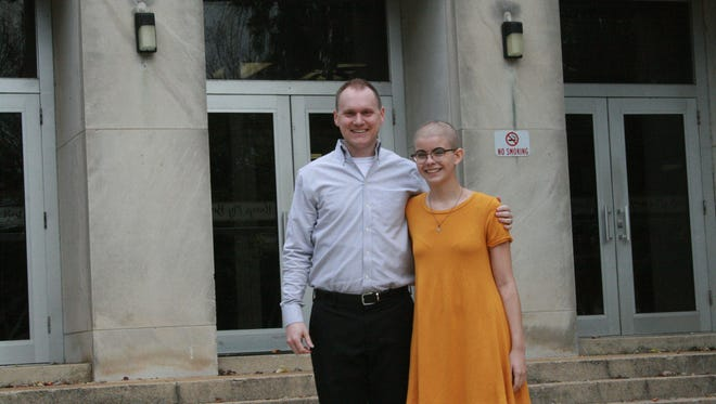 Central Magnet School teacher Kyle Prince and student Lindsay Bouldin have discovered a common bond as cancer survivors. Prince was diagnosed with leukemia as a toddler, while Bouldin learned of her cancer in May.