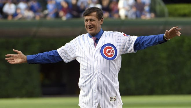 Craig Sager, a longtime Cubs fan, cheered on his beloved team on their way to the World Series title this year.