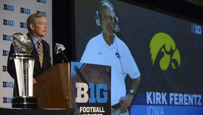 Iowa head coach Kirk Ferentz enters his 17th season having split his last 38 games as Hawkeyes head coach.