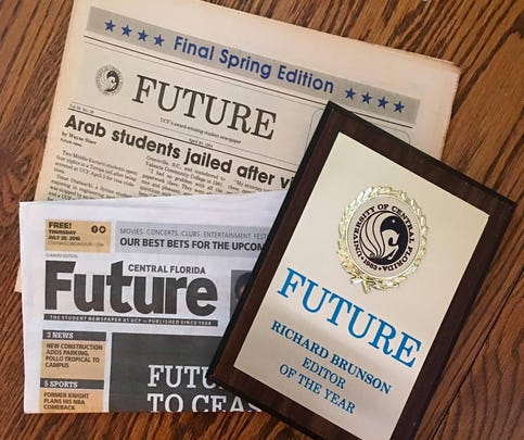 """""""My last issue of the Future before I graduated, last week's issue of the CFF and my proudest achievement as an undergrad: being named Future's editor of the year, which literally launched my journalism career. I landed my first job based on this award."""""""