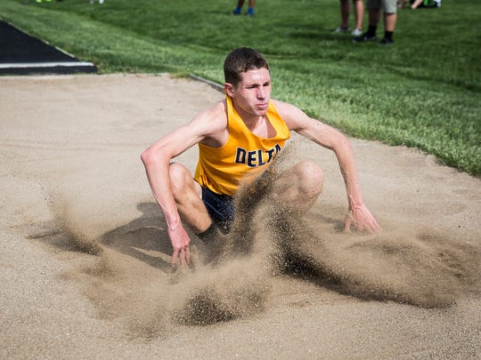 Delta's Zac Stanley, shown here in the 2018 sectional, was named Athlete of the Meet at the Muncie Relays on Monday night.