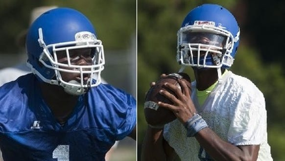 Lanier sophomores Alfred Thomas and James Foster are
