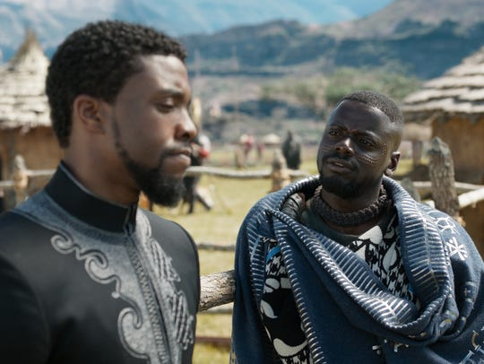 Chadwick Boseman (left) and Daniel Kaluuya star in