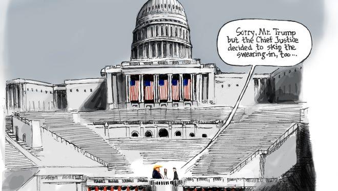 Cartoon for Jan. 19, 2017.