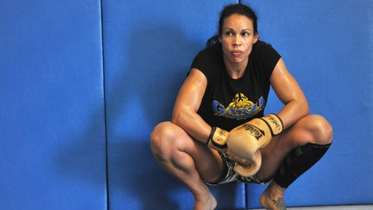 UFC fighter Marion Reneau takes a break from training