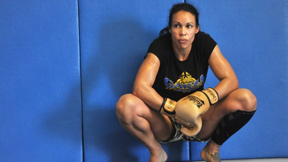 UFC fighter Marion Reneau takes a break from training at Elite Team Visalia.