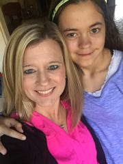 Montgomery Advertiser reporter Kym Klass and daughter, Jenna, on Thanksgiving  Day 2015.