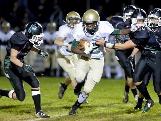 York Catholic's Jakkar Kinard has been asked to carry more of a load this season and he's responded by compiling the third-highest number of rushing yards in the league. He rushed for 108 in a 27-20 victory against Biglerville last week.