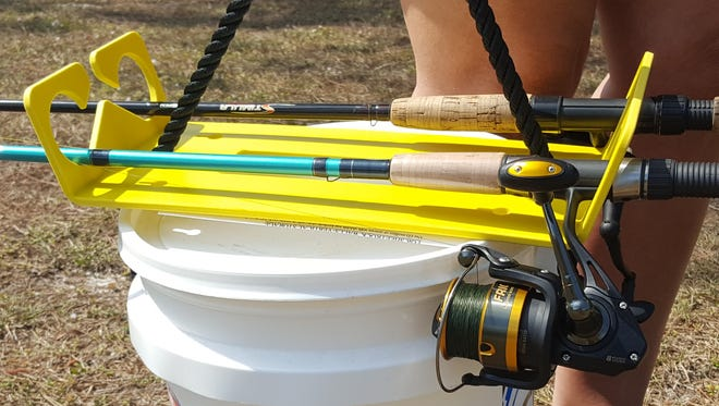 See the Stash n Carry rod storage and transport system, invented by Sebastian resident George Magill, at the Indian River Nautical Flea Market Saturday and Sunday in Vero Beach. It offers anglers an alternative to disorganized tackle storage and bulky transport to the fishing hole.