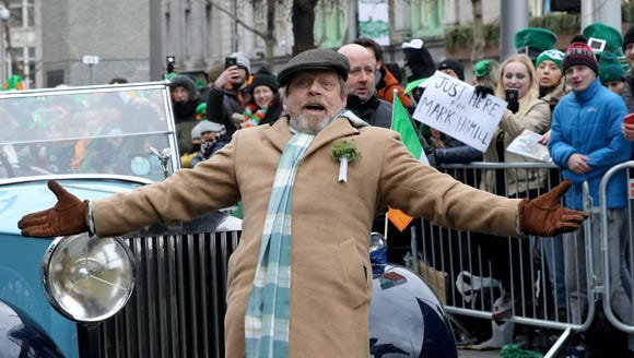 """Today, the whole galaxy is Irish,"" Mark Hamill proclaimed"