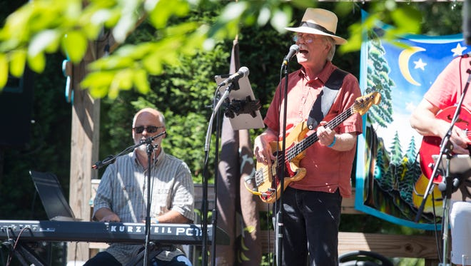 The Billy Burger Tribute Band perform during the Pacem Music Festival Sunday afternoon.