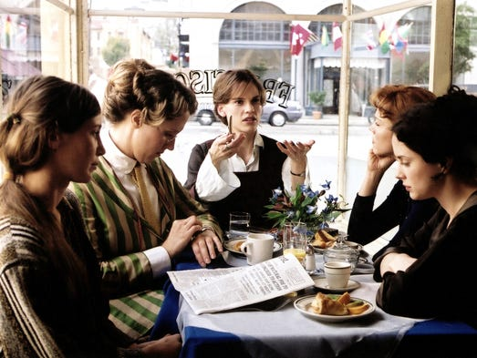 Hilary Swank (center) played suffragette Alice Paul