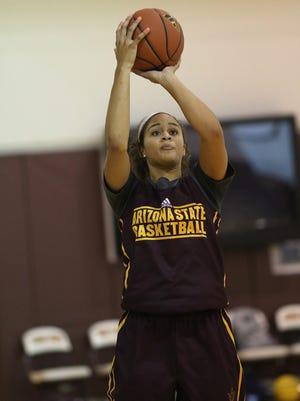Kianna Ibis of Omaha, Nebraska is one of four freshman on the ASU women's basketball team.