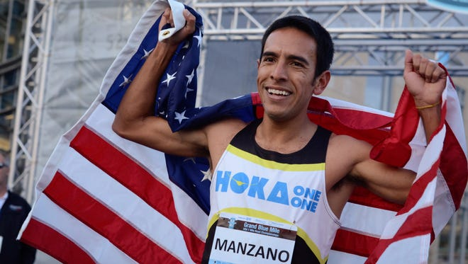 USA 1 Mile Road Champion Leo Manzano