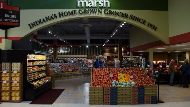 The Marsh grocery store at the corner of Wheeling Avenue and McGalliard Road, seen Nov. 6, 2015, recently underwent extensive remodeling to give it an updated look.