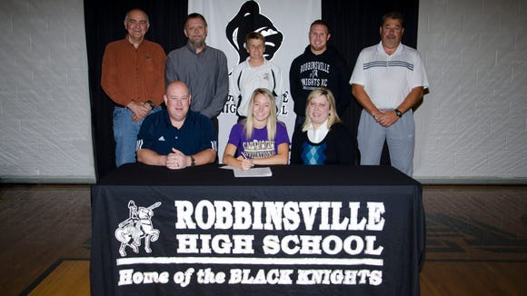 Robbinsville senior Shawnda Martin has signed to run college cross country and track for Western Carolina University.