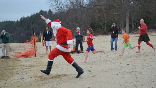 Parvin State Park Appreciation Committee's annual Plunge with Santa will be held on Dec. 19. Proceeds from the event will be used to maintain and improve the park.