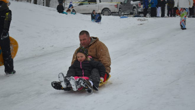 Neighbors on Meadowlake Drive in Hendersonville gathered for some winter fun.